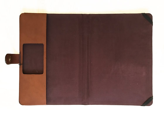 Vedge Tan leather Folio for Mac Book