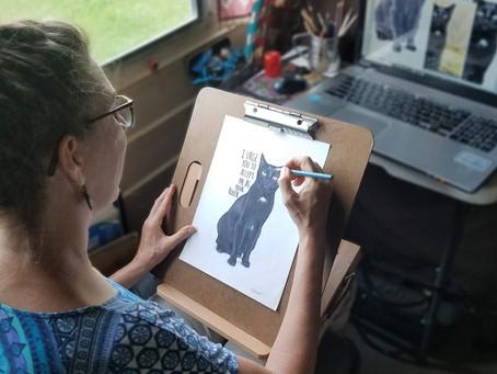 Portrait WIP: Salem Saberhagen portrait, final day