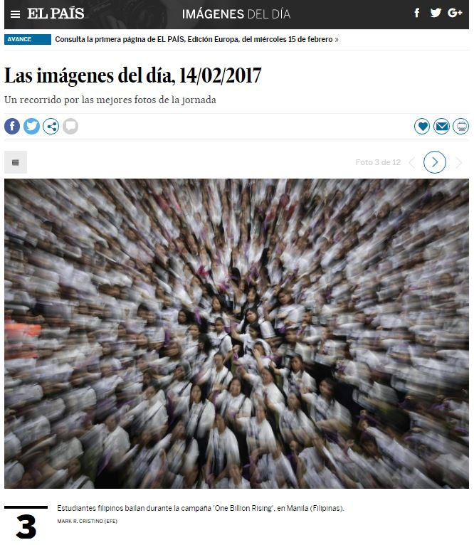 2017_02_14 One Billion Rising El Pais