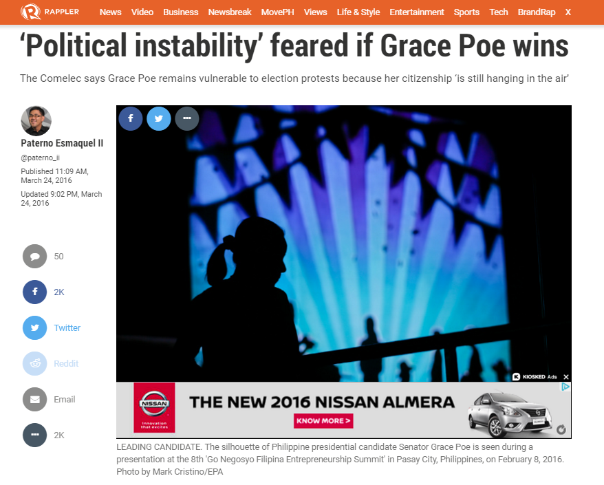 2016_03_24 Grace Poe Rappler