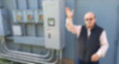 Tom Harris, CEO of Yak-Tat Kwaan, Inc. demonstrates the Yanmar CP35D1 at the TransAlaska building on
