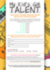 My Kid's Got Talent Ad Submission Form.j