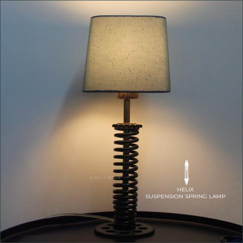 Suspension spring lamp