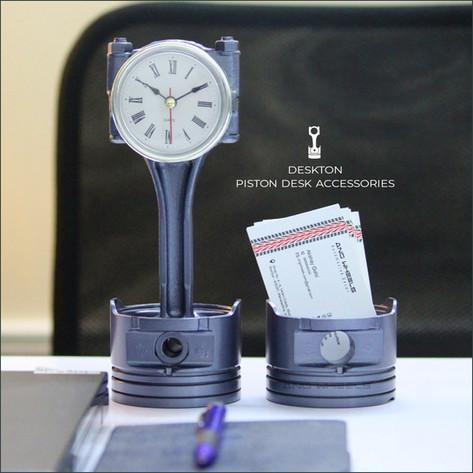 Desk clock & Business card holder