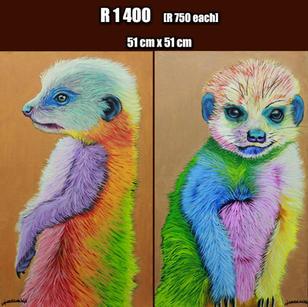Rainbow Meerkats  (SOLD)