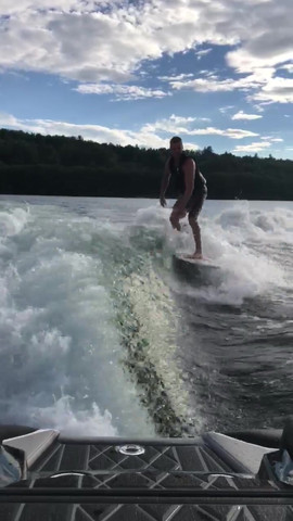 Surfing the Wake
