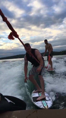 Kyle and Brad Surfing
