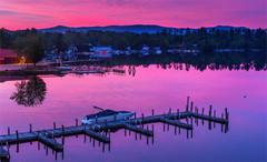 Gorgeous Sunset in Center Harbor
