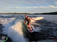 Kyle Surfin' the Wake