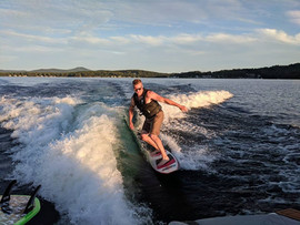Kyle Surfin' the Wake