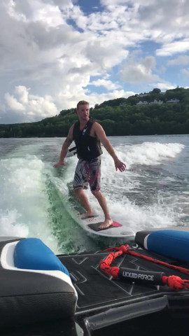 Surfing on Lake Winnipesaukee