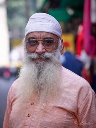 Bearded Man in Pink
