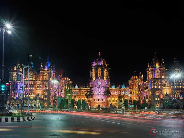 Victoria Station at Night