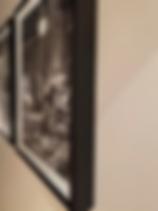 Details of black Maple Framing for Plati