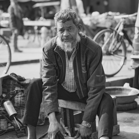 Tire Repairman-Delhi, India