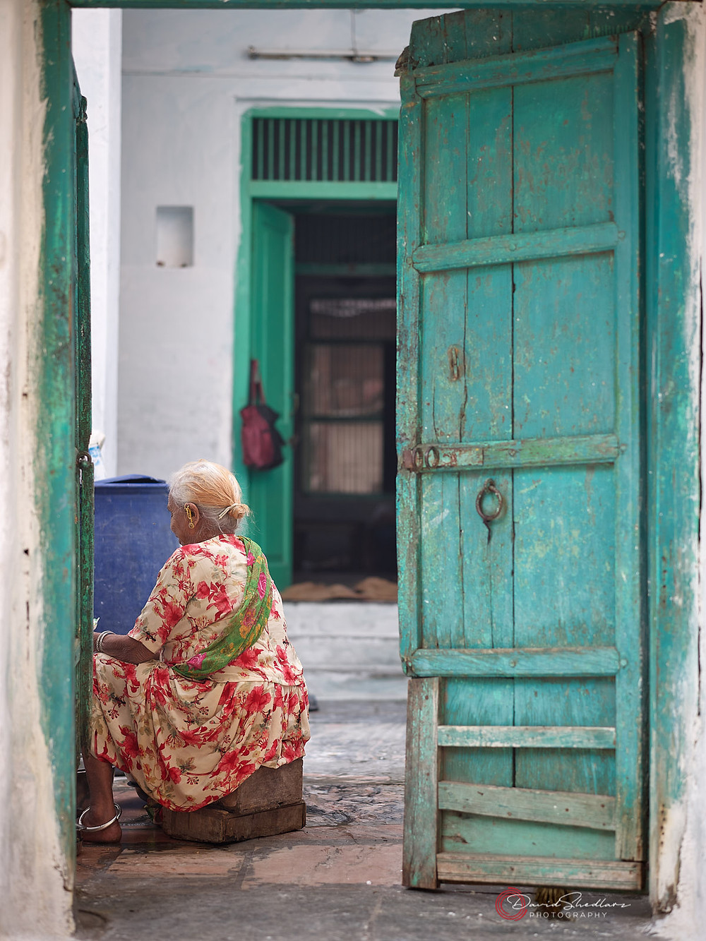 Woman in Doorway - India | David Shedlarz Photography