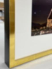 Custom Maple Gold Leaf Frame offered wit