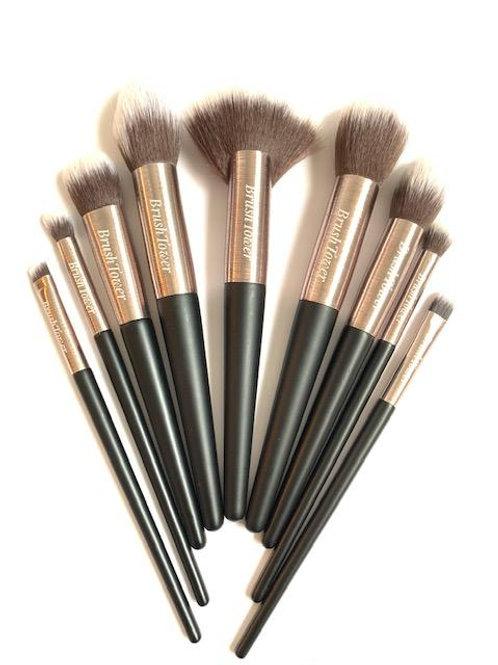 """Taylor"" Black & Rose Gold 9 piece  Makeup Brush set."