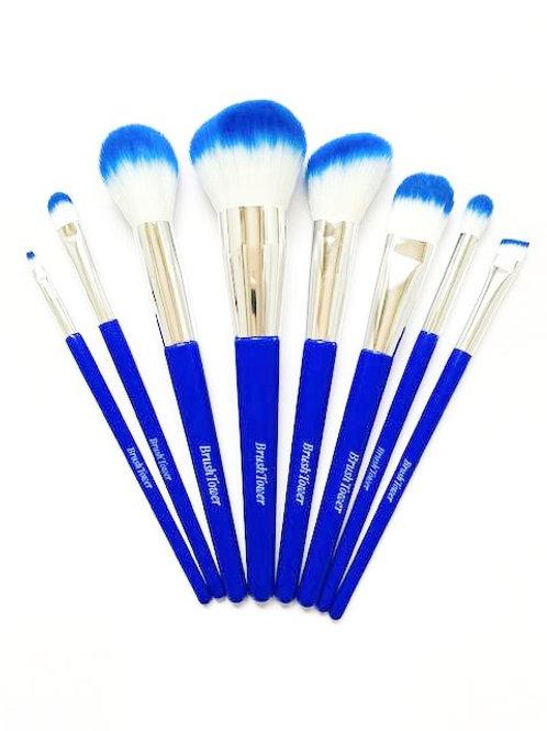 """""""Meena"""" Blue 8 piece Makeup Brushset."""