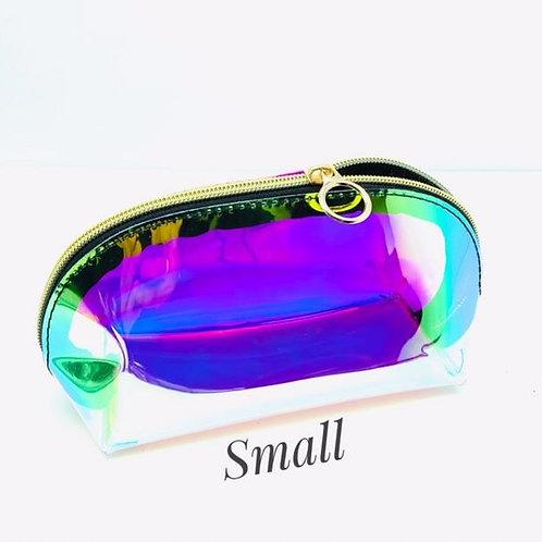 Small Iridescent Makeup Bag