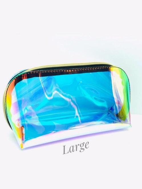 Large Iridescent Makeup Bag.
