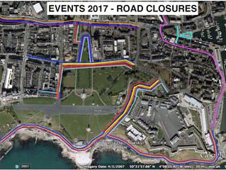 Major Events Calendar 2017 - Road Closures