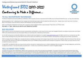 PWP WATERFRONT BID2 (2017-2022) - CONSULTATION PAPER
