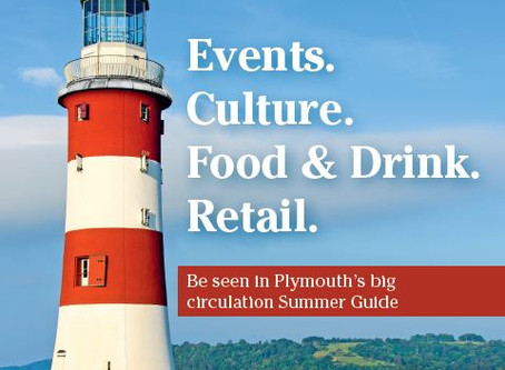 THE PLYMOUTH SUMMER GUIDE 2018 – Half Price Advertising Opportunity!