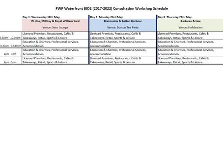 PWP WATERFRONT BID2 (2017-2022) - CONSULTATION WORKSHOPS