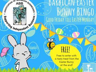 Barbican Easter Bunny Bingo!