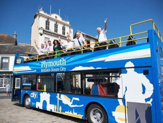 Plymouth's 'hop on, hop off' open top bus launches.