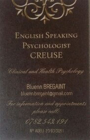 English speaking Psychologist Creuse