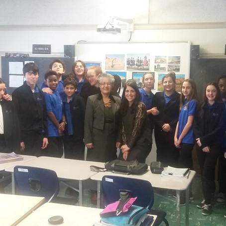 Makai Aref visits Lakeside Academic School