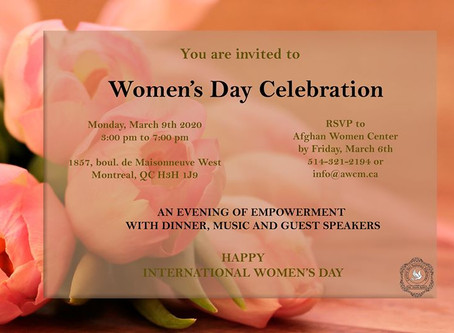 March 9th, 2020 International Women's Day