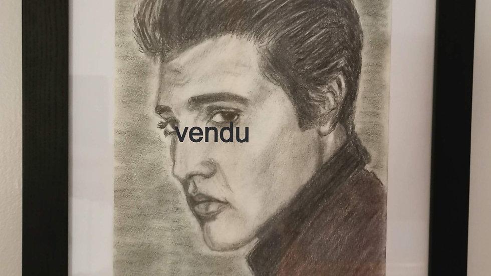 Portrait d'Elvis Presley