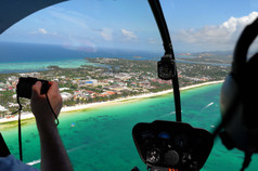 Helicopter in Boracay