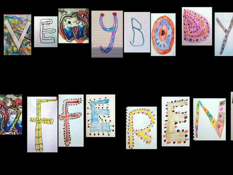 Collaborative letter project on Zoom