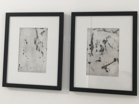 Collaborative etchings by William Thomas and Aaron Parish