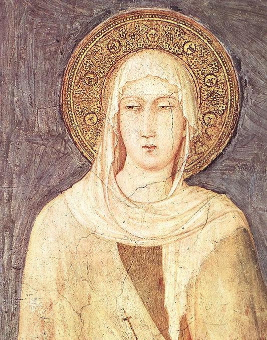 1320-25 - Frescoes in the transept - St Margaret (detail).jpg