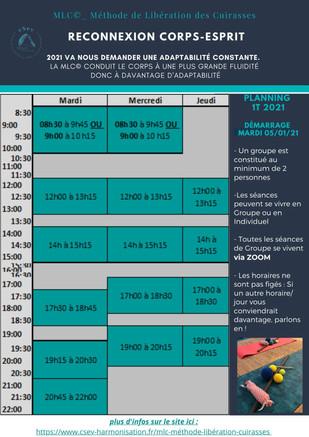 Planning MLC© 1T 2021 >>> démarrage le 05/01/21