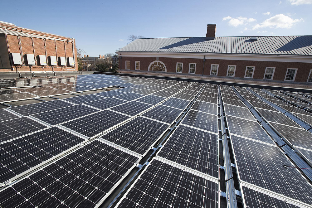 Example of the solar PV planned for installation on campus