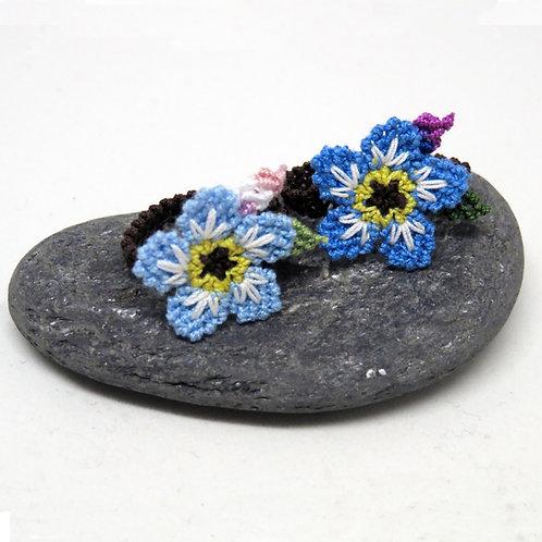 Forget Me Not Flower Ring (Intermediate Pattern)