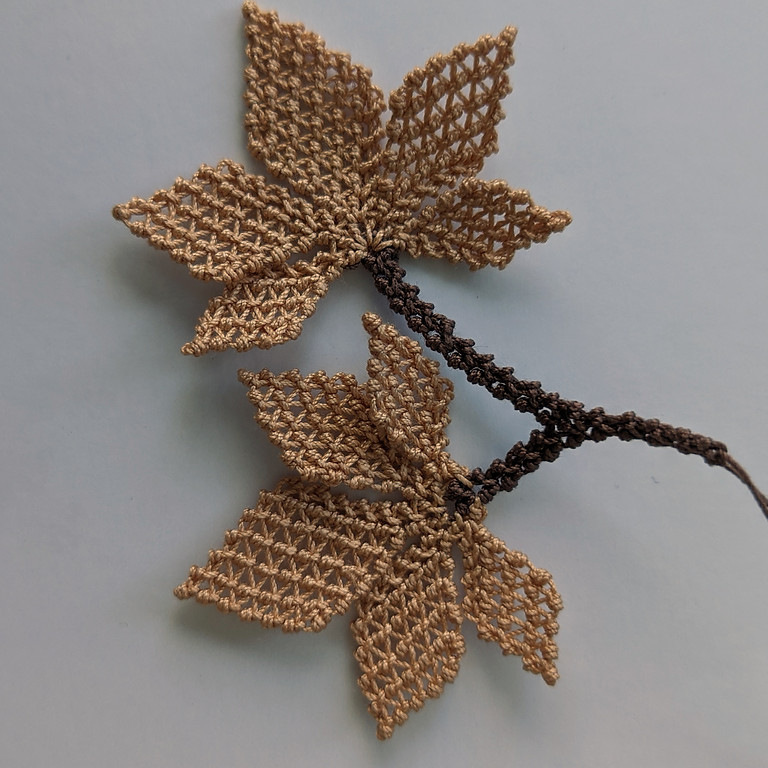 Turkish Needle Lace Virtual Class Maple Leaf for Fall