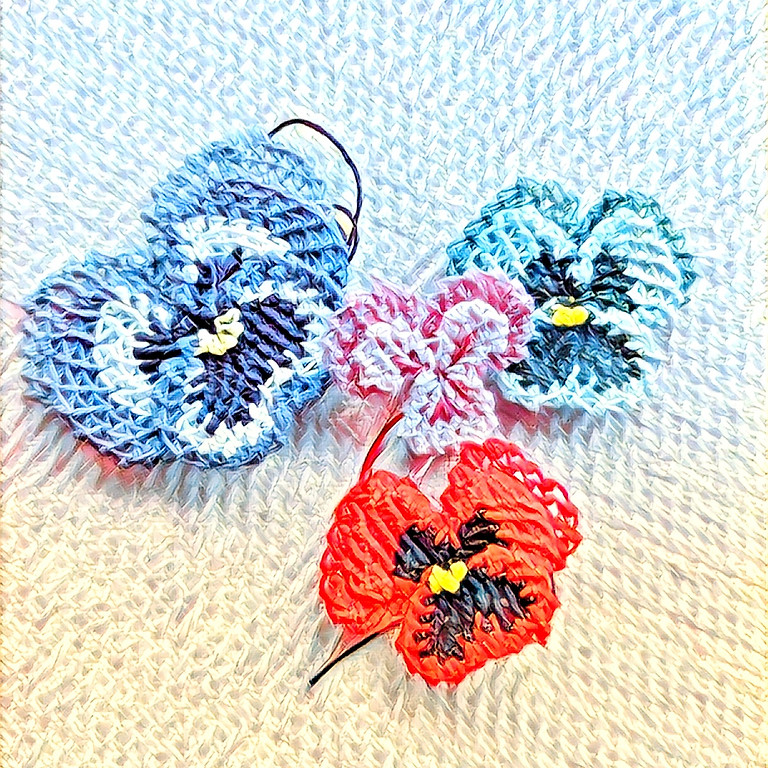 Virtual Class Turkish Needle Lace Pansies and Violas with the Lace Museum