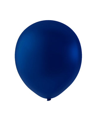 """Globo Látex Sólido Color Azul Marino 9"""" (50 piezas)"""