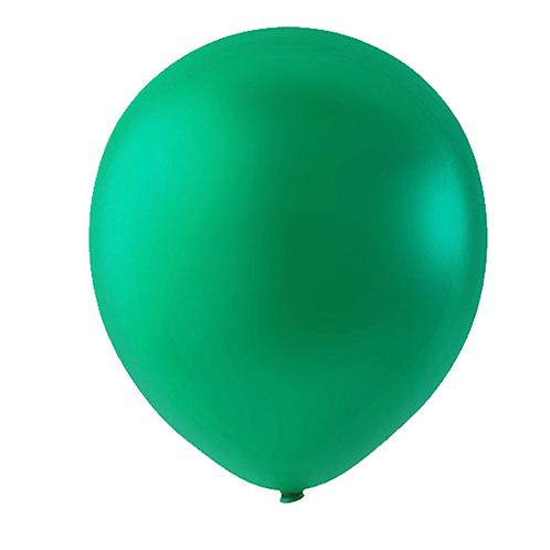 """Globo Látex Sólido Color Verde Esmeralda 9"""" (50 piezas)"""