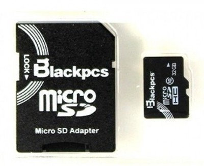 Memoria Micro SD Blackpcs Clase10, 32 GB