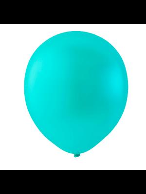 """Globo Látex Sólido Color Azul Agua 9"""" (50 piezas)"""
