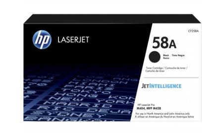 Tóner HP CF258A, Laser, P/3,000 Pag, M404