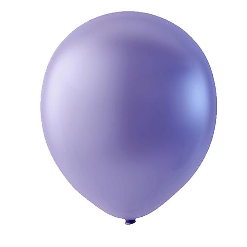 """Globo Látex Metálico Color Violeta Perla 9"""" (50 piezas)"""